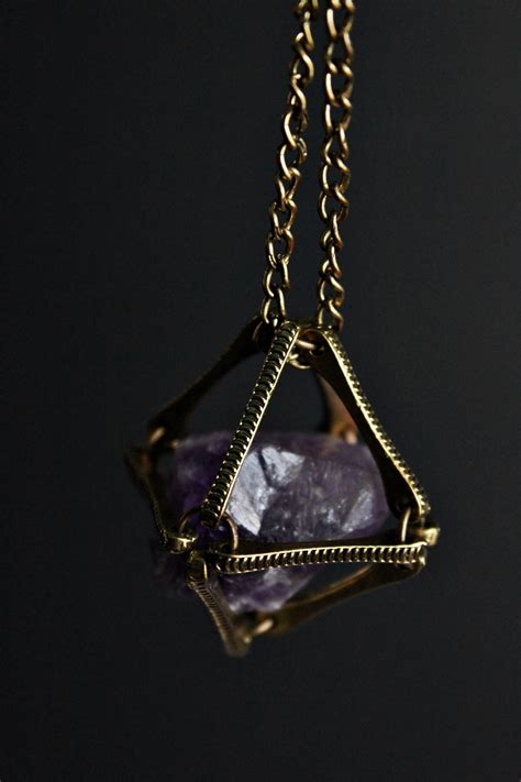 tumblr themes jewelry numinous jewelry designs caged amethyst hand crafted
