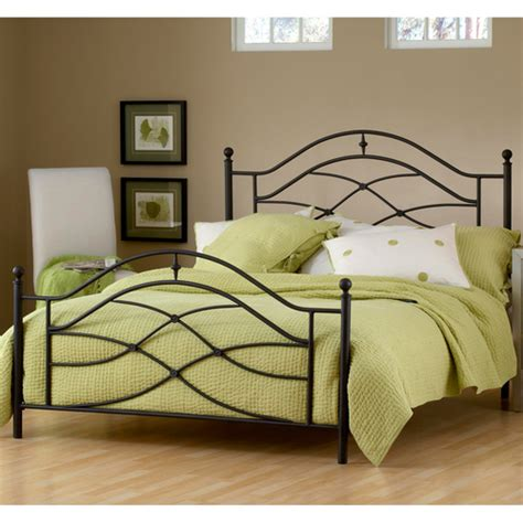 Iron Bed Frame by Cole Iron Bed In Black Twinkle By Hillsdale Furniture Humble Abode