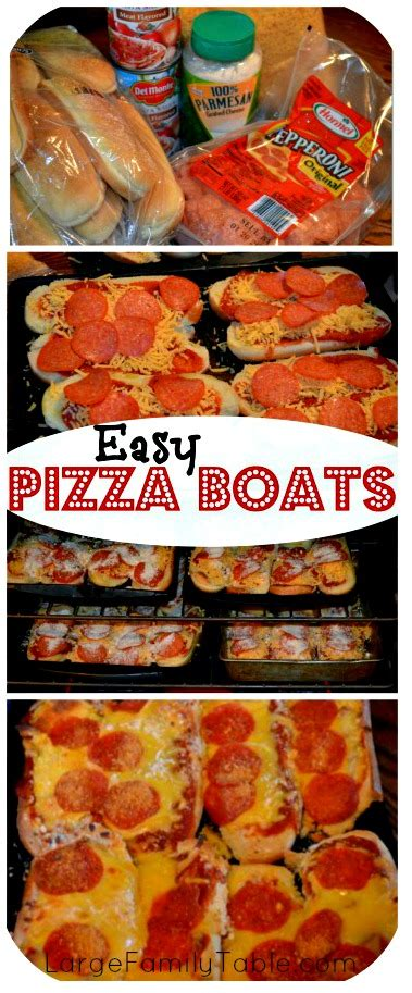pizza boat quick easy pizza boat recipe large family recipes