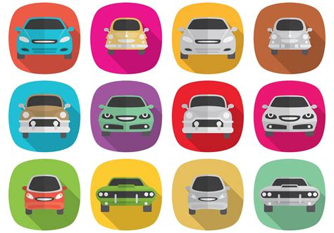 Car Icons by Shadow Car Icons Free Vector Stock