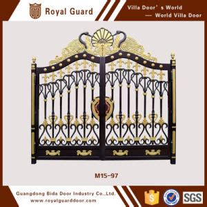 china european style security gates hotel entrance doors