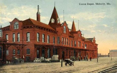 union depot moberly missouri 1900s familyoldphotos