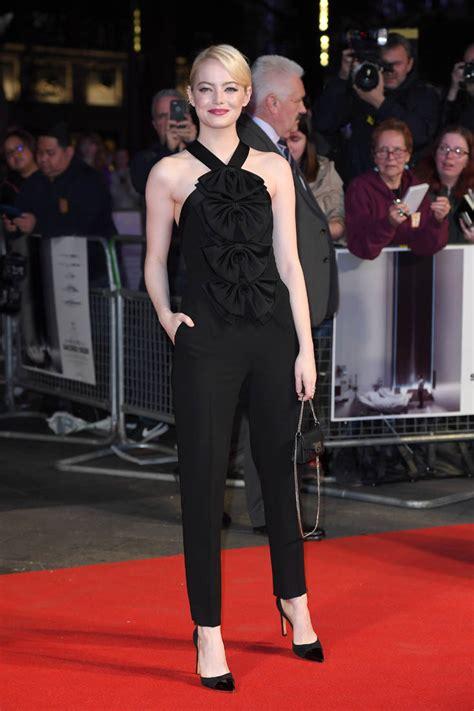 emma stone jumpsuit emma stone s amazing black givenchy jumpsuit at uk