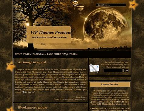 gold themes wordpress 12 free wordpress moon themes anti social development