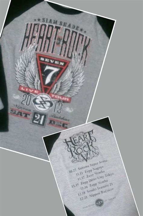 Siam Shade T Shirt 012 siam shade of rock seven 日本武道館 siamrock7963のブログ