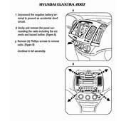 2007 HYUNDAI ELANTRAinstallation Instructions