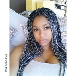 braid hairstyles for black with a gray grey x black box braids so naturally pinterest