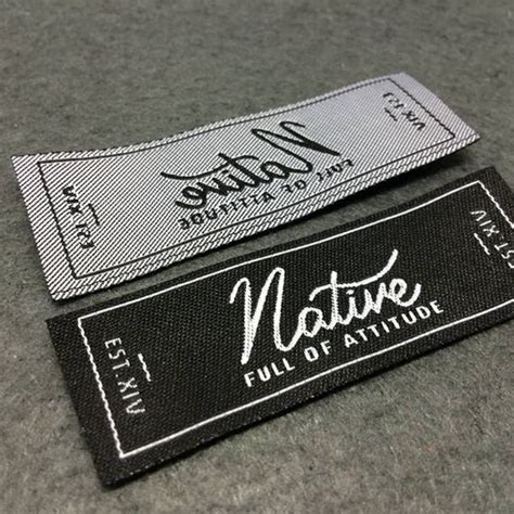 Woven Labels Woven Label Basic Name Labels Custom Woven Woven Label Template
