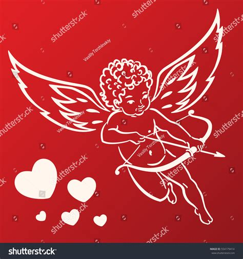 cupid valentines sweet cupid greetings card valentines day stock vector