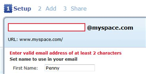 Vanity Email Address by Set Myspace Username Url And Myspace Email Journey