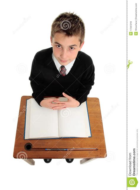 Sitting At Desk by School Boy Sitting At School Desk Royalty Free Stock Images Image 17347219