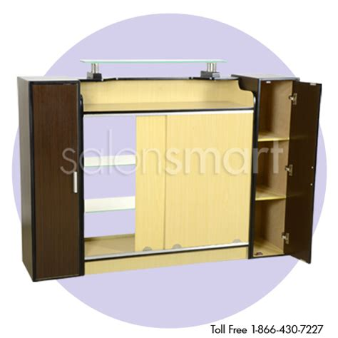 Reception Desk With Display Ayc Berkeley Stanford Reception Desk With Display Salon Reception Desk Reception Furniture
