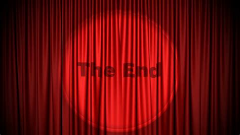 go on and close the curtains red cinema style curtains close with the end projected by