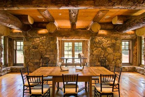 log home interior walls