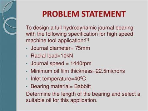 design of journal bearing hydrodynamic journal bearing