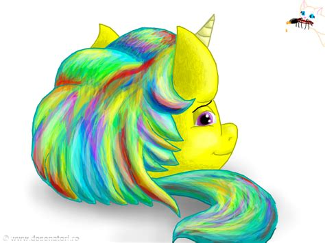 club penguin rainbow hair unicorn puffle with a rainbow hair by copanel cp on deviantart