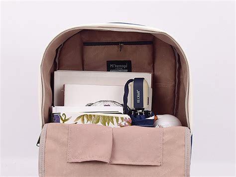 Tas Ransel Two Tone two tone canvas backpack panmomo belanja barang