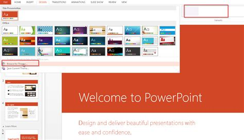 powerpoint design variants powerpoint 2013 design variants