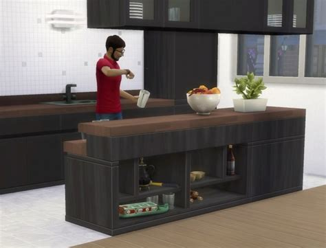 Counter Slurp Bars by plasticbox at Mod The Sims » Sims 4