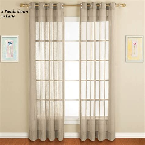 Sheer Grommet Curtains Sheer Curtain Panels Casual Cottage
