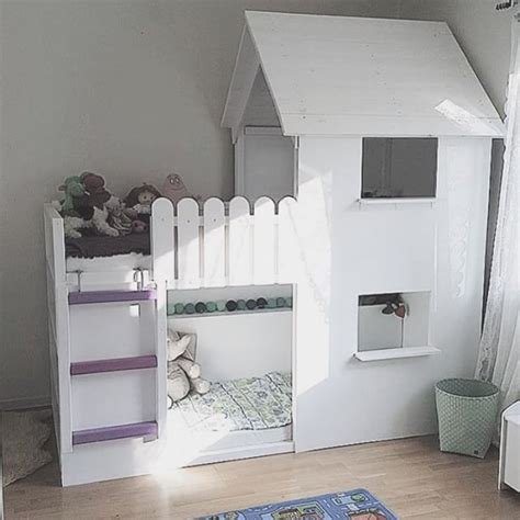 Can You Turn A Bunk Bed Into A Loft Bed Picture Of You Can Turn The Loft Bed Into A Beautiful All White Castle