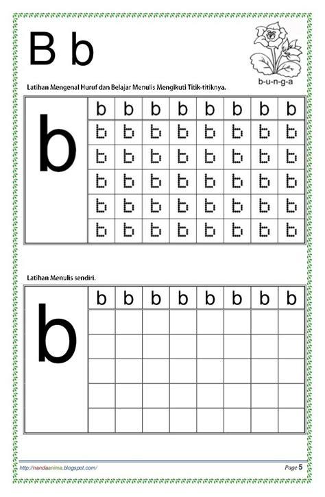 belajar mengenal dan menulis huruf abc huruf titik dan