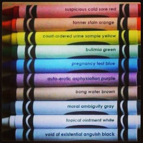punny color name the darker side of crayon color names funny humor