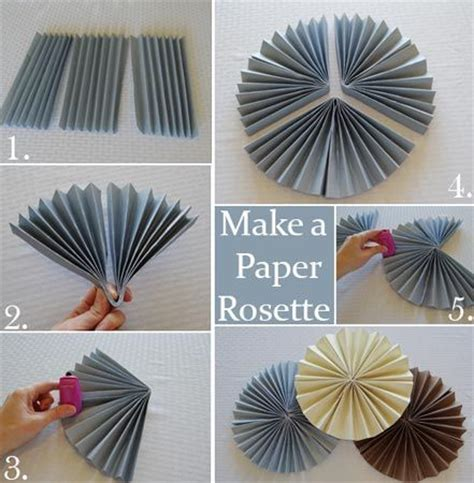 How To Make Paper Bunting - how to make a paper rosette apparently gold cardstock
