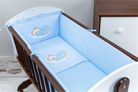 Canopy Crib Bedding Sets 8 Pcs Nursery Crib Bedding Set 90x40 Cm With Canopy And All Bumper Ebay