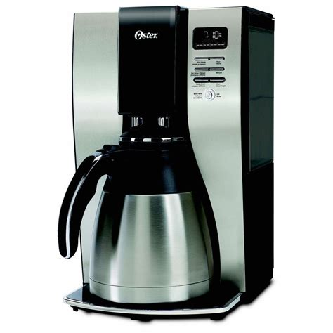 coffee maker stainless oster stainless steel 10 cup programmable coffee maker