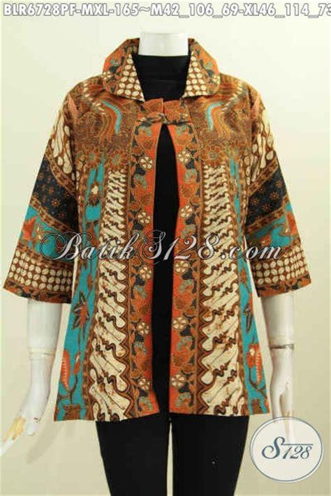 Laras Blazer Bolak Balik Batik Atasan Remaja Baju Kerja Fashion Modern model baju batik wanita terbaru 2018 model baju batik