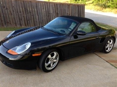 black porsche boxster convertible purchase used 2001 porsche boxster 2 7 liter black