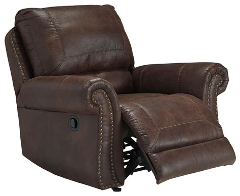 leather recliner with nailhead trim faux leather rocker recliner with rolled arms and nailhead