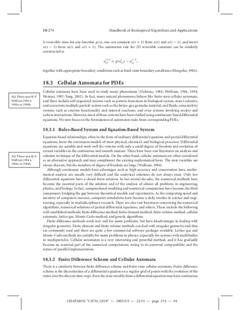 pattern formation algorithms cellular automata pdes and pattern formation