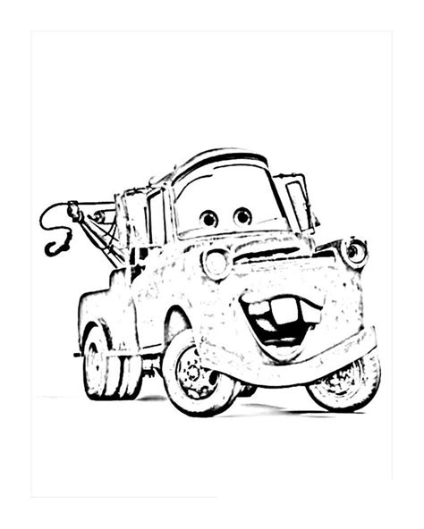 disney cars coloring pages 6 free printable disney cars tow mater coloring pages