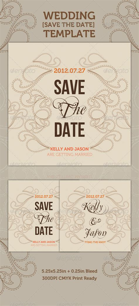 wedding save the date card templates wedding save the date graphicriver
