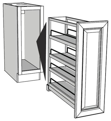 pull out storage for kitchen cabinets pull out base cabinet organizers full insert rta