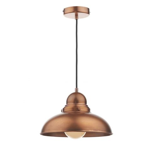 Dar Pendant Lighting Dyn0164 Dar Dynamo 1 Light Ceiling Light Antique Copper Pendant