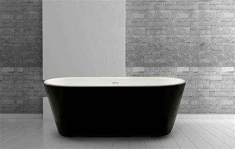 black freestanding bathtub madison lwfb15 black freestanding bath 1650mm x 735mm lisna waterslisna waters