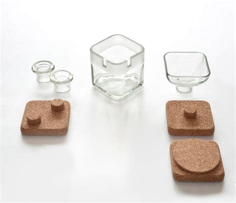 Glass Desk Accessories Sets Handy Cork Glass Desk Accessories By Lucirmas
