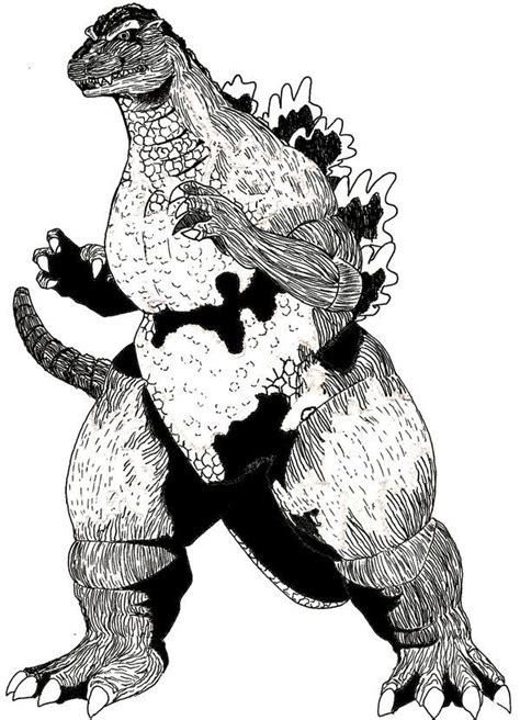 Burning Godzilla Coloring Pages | burning godzilla coloring pages coloring pages