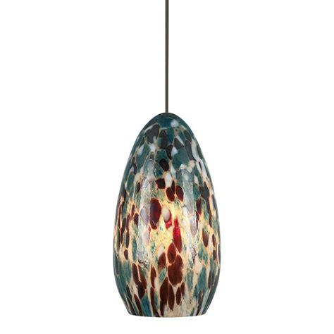 Lbl Lighting Banja 1 Light Bronze Aqua Xenon Hanging Mini Aqua Pendant Light Fixture