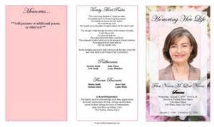 funeral program template trifold pastel memories