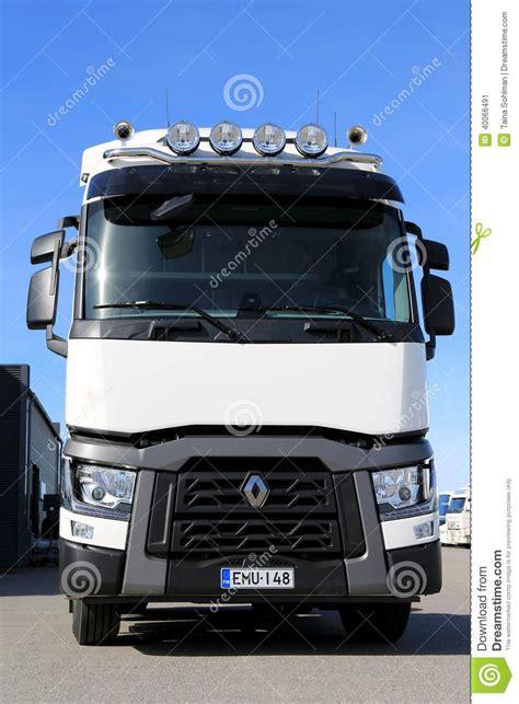 new volvo truck range renault t range truck for long haul editorial photo