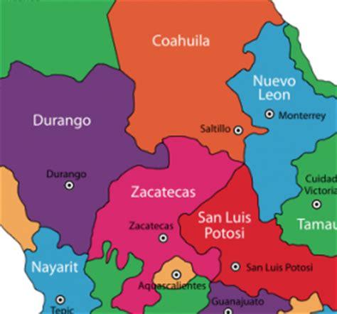 map of mexico zacatecas zacatecas state mexico go gringo
