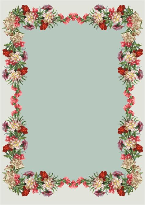 printable borders with flowers 7 best images of free vintage printables flower free