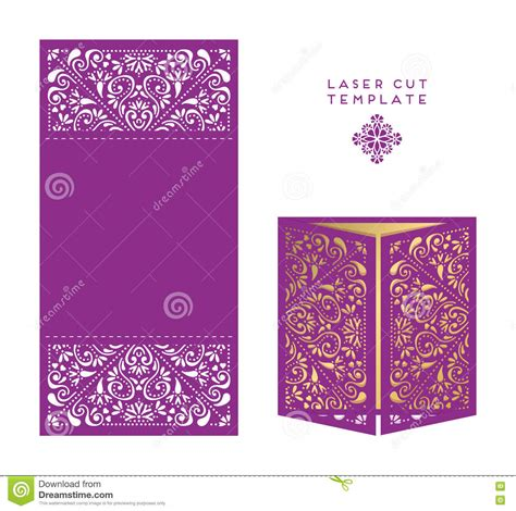 magic card template vector vector wedding card laser cut template stock vector