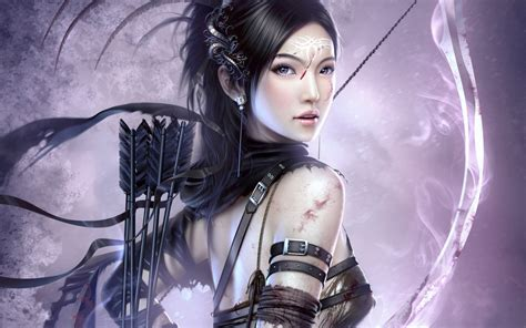 fantasy archer girl wallpapers hd wallpapers id