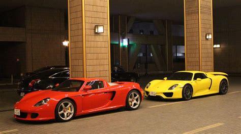 porsche spyder yellow combo spot yellow porsche 918 red carrera gt