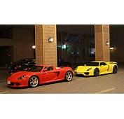 Combo Spot Yellow Porsche 918 &amp Red Carrera GT